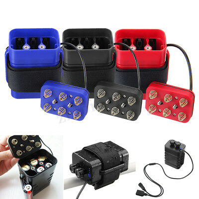 Waterproof 6x18650 Battery Pack Storage Case Box Holder For Bike LED Light Lamp