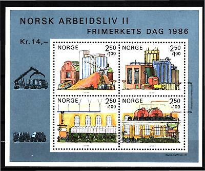 Norway 1986 Working Life S/s (25) Mint Never Hinged