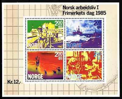 Norway 1985 Working Life S/s (27) Mint Never Hinged
