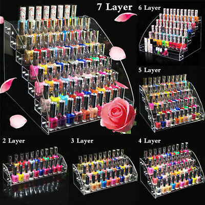 Acrylic Essential Oil Nail Polish Lipstick Cosmetic Display Stand Organizer Rack