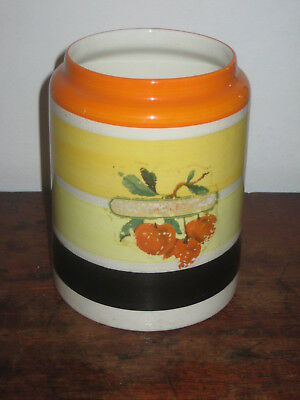 gray's pottery storage jar colourful art deco design no lid