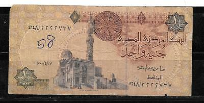 EGYPT EGYPTIAN #50i 2005 VG CIRC POUND BANKNOTE PAPER MONEY CURRENCY NOTE