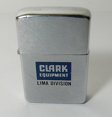 1971 Unfired Clark Equipment Lima Division Construction Zippo Lighter