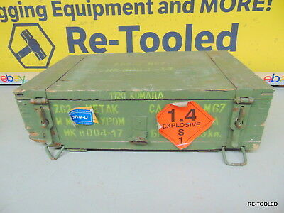 Vintage Russian Military ARMY M67 Ammunition Wooden Crate 7.62 Ammo Box Case #