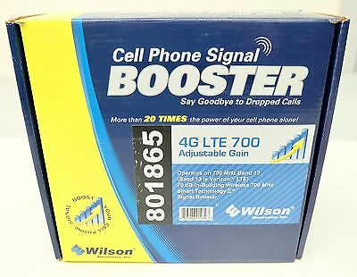 Wilson Cell Phone Booster Signal 271865 801865 4G LTE Adj Gain Amplifier Verizon