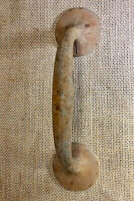 "outside Door Handle 7 5/8"" pull old rustic vintage cast iron screen"