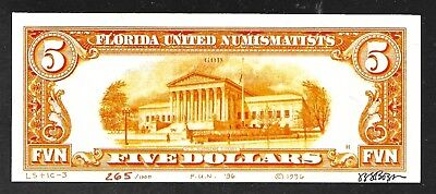 J. S. G. Boggs Money Art Note - 5 Dollars from F.U.N. Show in 1996 -Uncirculated