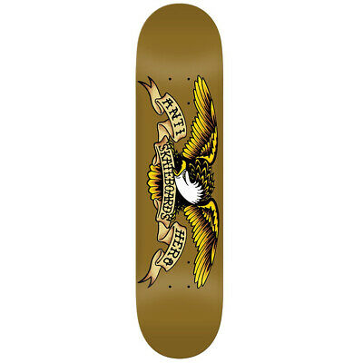 "Anti Hero Skateboard Deck Classic Eagle Tan 8.06/"" With Jessup Grip"
