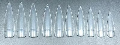 100 New Style Stiletto Tips Natural, transparent oder weiß in Tipbox und Set