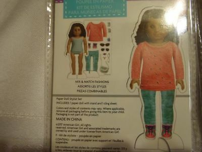 NEW American Girl Crafts Paper Doll Stylist 3 Set with Reusable Cling Clothing