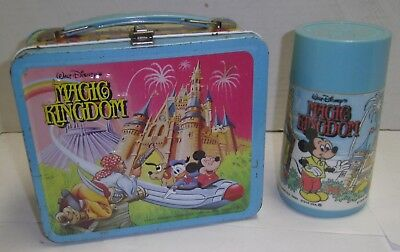 Vintage Metal Lunch Box With Thermos Magic Kingdom Selling Collection No Reserve