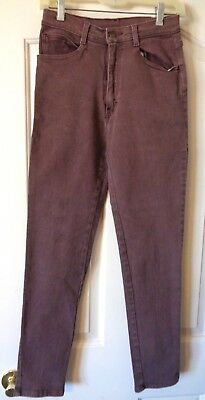 Vtg 70's-80's Jordache Slim Stretch Jeans 9/10 (25X29) Faded Plum Color Pristine