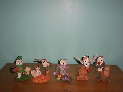 HUGE LOT 19 OWLS Lil Whoots Happy Owlidays Sculpture Collection1998/99 ALL MINT