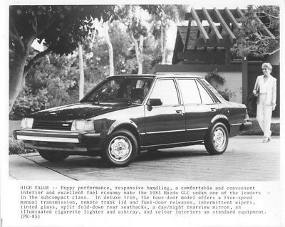 1985 Mazda GLC Sedan ORIGINAL Factory Photo oua1233