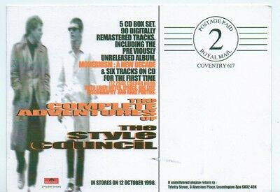 STYLE COUNCIL PAUL WELLER 'Complete'  Promo postcard postcard 6x4 inches
