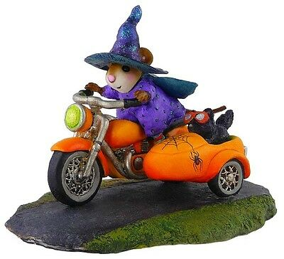 SPOOKY SPEEDER by Wee Forest Folk, WFF# M-314c, Halloween Witch Mouse