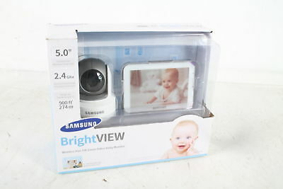 "SEW-3043W Samsung Wisenet BrightVIEW HD Baby Video Monitor with 5"" Touch Screen"