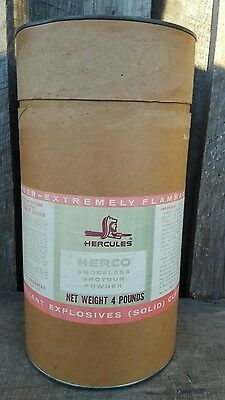 Vintage Gun Powder Hercules Smokeless Rifle Pistol Shotgun Powder Empty