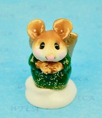 PAGEANT ANGEL by Wee Forest Folk, WFF# M-145, Dark Green, Mouse Expo Event Piece