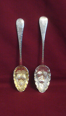 (2) Antique Vintage Silver Electroplated Casserole Spoons (1) English Hallmarked
