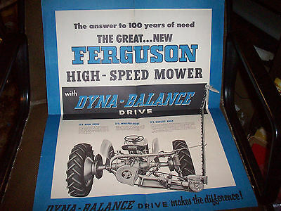 1950's Ferguson High-Speed Mower Advertising Brochure Poster