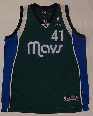 a8807aaee Reebok Dallas Mavericks Dirk Nowitzki  41 Sewn Jersey Basketball SIZE ADULT  2XL