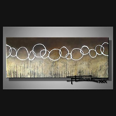 ORIGINAL ABSTRACT Oil PAINTING Modern CANVAS WALL ART Framed Large  ELOISExxx