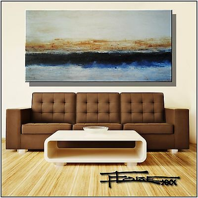 Huge ABSTRACT PAINTING Modern CANVAS WALL ART Large Framed USA ELOISExxx