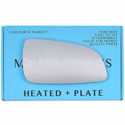 For Vauxhall Astra H 04-08 Right Driver side Electric wing mirror glass w/ plate
