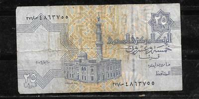 EGYPT EGYPTIAN #57g 2006 VG CIRC 25 PIASTRES BANKNOTE PAPER MONEY CURRENCY NOTE