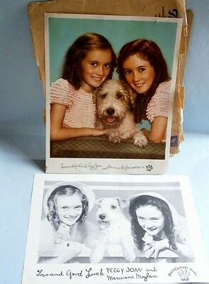 The Moylan Sisters and Rascal Premium Prints from Thrivo Dog Food, c.1930's