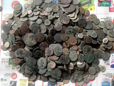 10 Lot of Uncleaned desert Roman coins which are Unsorted  !!