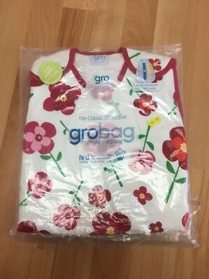 Grobag Classic Pretty Petals 6-18 Months 1.0 Tog Brand New