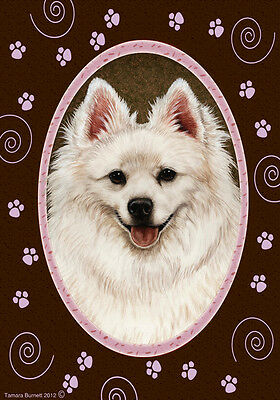 Large Indoor/Outdoor Paws Flag - American Eskimo 17126