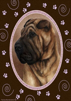 Large Indoor/Outdoor Paws Flag - Shar Pei 17053