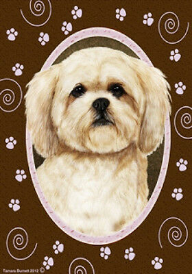 Large Indoor/Outdoor Paws Flag - Lhasa Apso 17040