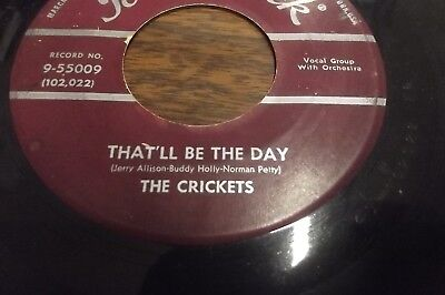 THE CRICKETS w/ BUDDY HOLLY - That'll Be The Day - 1959 Brunswick 45RPM  # 55009