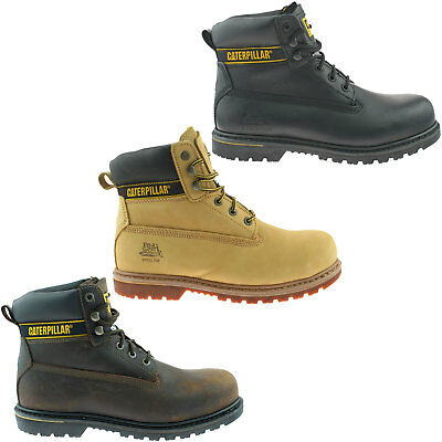 """7175f3e19ba75 Mens Caterpillar Holton Sb Wide Fit Leather Safety Steel Toe Cap 6"""" Work  Boots"""