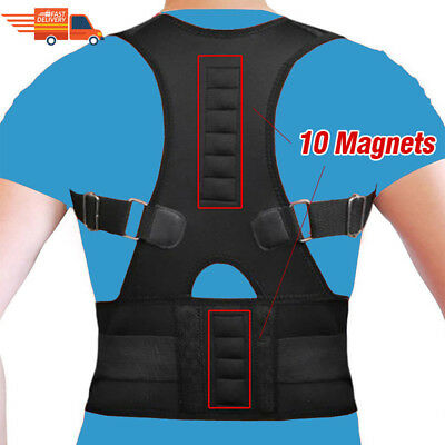 Magnetic Men/Women Adjustable Posture Corrector Back Support Shoulder Brace Belt