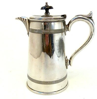 Victorian Silver Teapot Cylindrical Form With Scroll Handle By Francis Howard