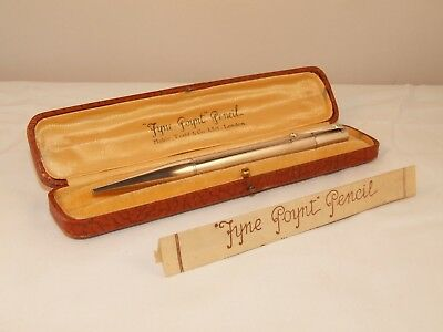 Vintage Mabie Todd Fyne Poynt Sterling Silver Propelling Pencil - 0Riginal Box