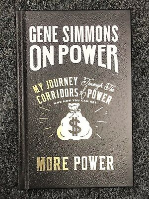 """Gene Simmons Signed """" On Power More Power """" Book AUTO Autograph KISS Auction 1"""