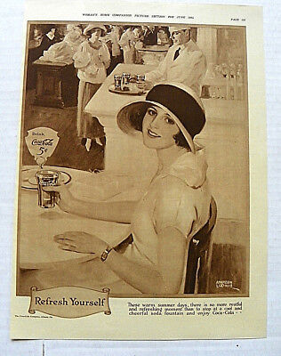 "1924 June Woman's Home Companion ""these Warn Summer Days"" Woman At Table W/glass"