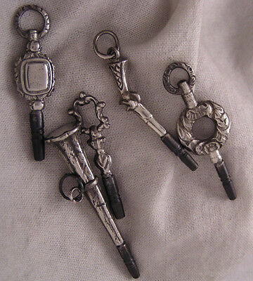 """FIVE Rare Hand Made Keys Incl. A """"Pistol"""" One For Antique Watches MINT"""