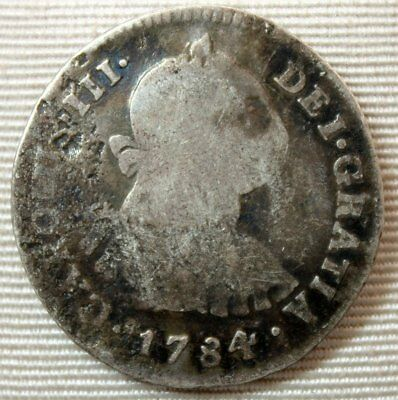 1784 Mexico 2 Reales Silver Coin * Spanish Colony Coinage * FREE SHIPPING