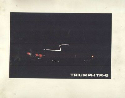 1970 Triumph TR6 Convertible Top Reflective Safety Stripe Brochure wy9602