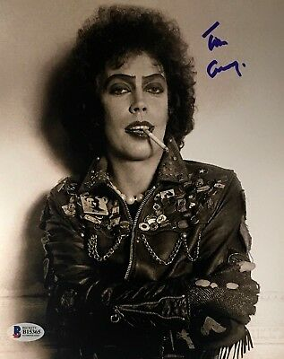 TIM CURRY Signed Rocky Horror Picture Show 8x10 Photo Beckett BAS COA Proof C