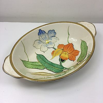 Vintage Grays Pottery Hand Painted Bowl Dish - Bright Beautiful Colours
