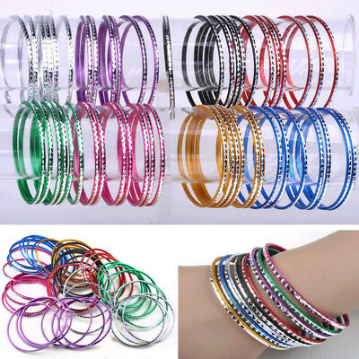100Pcs Bulks Wholesale Jewellery Lots Set Dance Bangle Aluminum Bracelets Hot