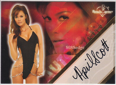 """2008 Benchwarmer Limited Auto: April Scott #2 Of 20 Autograph """"deal Or No Deal"""""""